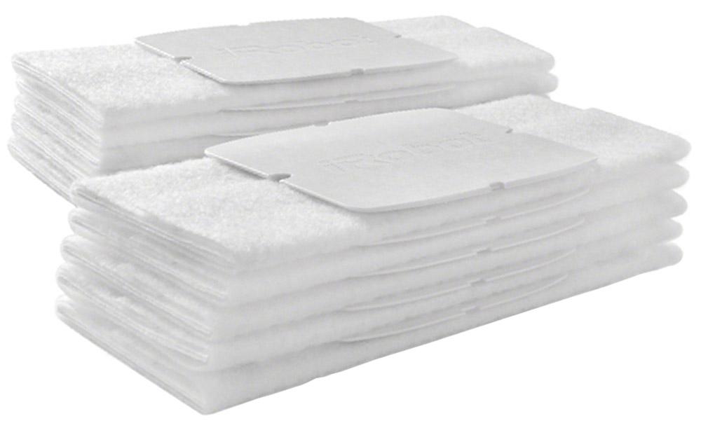 iRobot набор одноразовых салфеток для сухой уборки Braava Jet, 10 штJ2Одноразовые салфетки для робот-полотера Braava Jet предназначены для сухой уборки. Убирает пыль, грязь, и шерсть домашних животных.Преимущества:Уборка пола в один проходРазработаны специально для деревянных и каменных полов, а также для напольной плитки