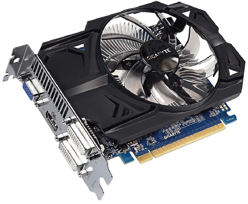 Gigabyte GeForce GT 740 2GB видеокартаGV-N740D5OC-2GIВидеокарта Gigabyte PCI-E GV-N740D5OC-2GI NV GT740 2048Mb 128b GDDR5 993/5000 DVIx2/HDMIx1/CRTx1/HDC