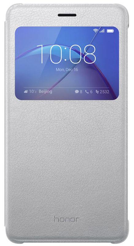 Huawei Smart Cover чехол для Honor 6X, Silver51991741Чехол Huawei Smart Cover из искусственной кожи создан специально для смартфона Honor 6X. Он идеально повторяет контуры устройства и обеспечивает ему надежную защиту при падениях. Чехол приятен на ощупь, не скользит в руках и не утяжеляет конструкцию: с ним смартфон сохранит внешний вид и будет защищен от сколов и царапин.