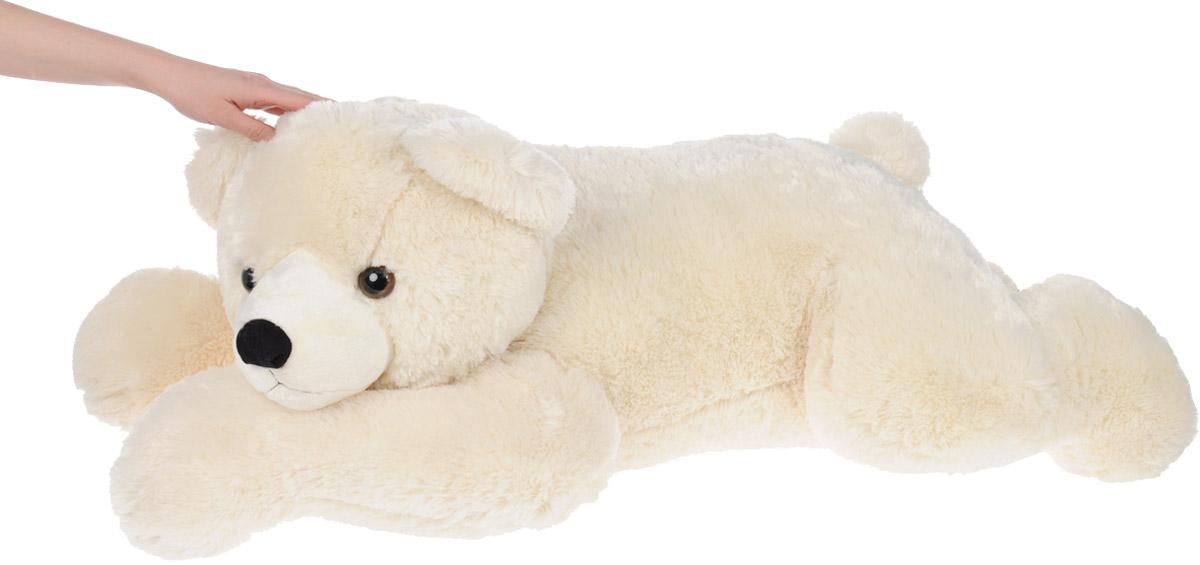 """Мягкая игрушка Aurora """"Медведь"""", лежачий, цвет: белый. - 3"""
